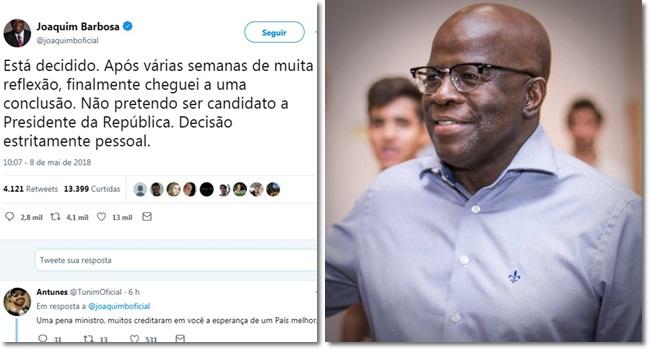 Desistência de Joaquim Barbosa frustra defensores fórmulas mágicas