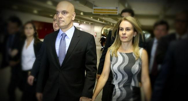 Esposa de Alexandre de Moraes escapa de detector de metais aeroporto revolta