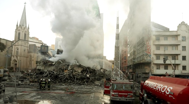 fotos e vídeos incêndio em São Paulo ocupação