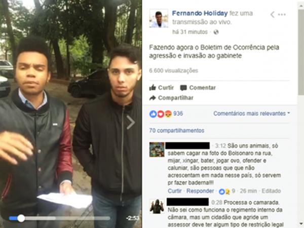 Justiça condena vereador Fernando Holiday por comunicação falsa de crime