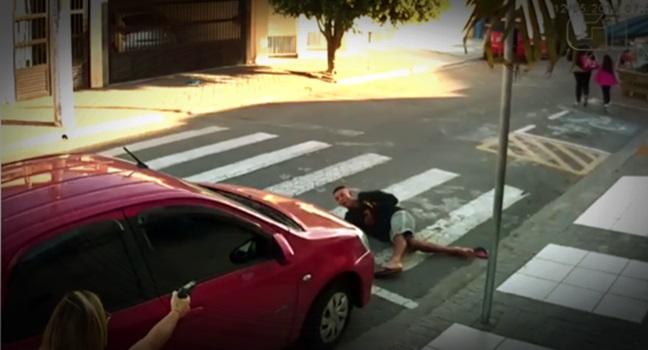 mãe policial Mataram o preto assaltante escola