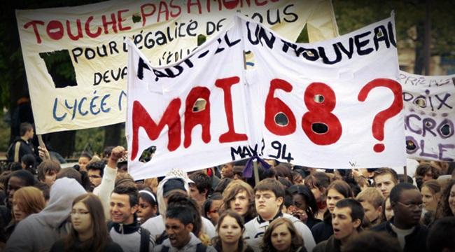 apagados pelo tempo slogans de Maio de 68 resistem ditadura