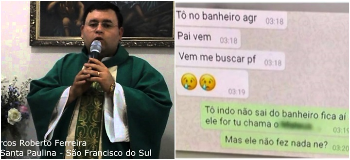 padre Marcos estupro Joinville