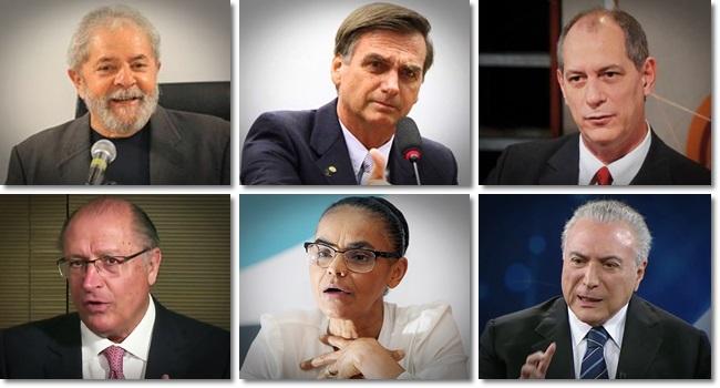 pesquisa CNT/MDA para além da liderança de Lula bolsonaro ciro alckmin marina temer