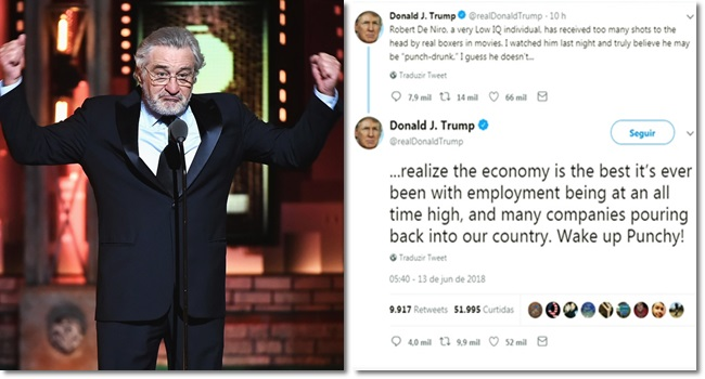 Donald Trump rebate críticas de Robert De Niro