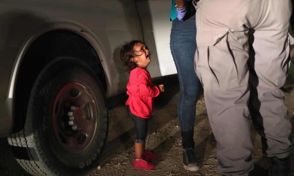 foto John Moore migrantes nos EUA