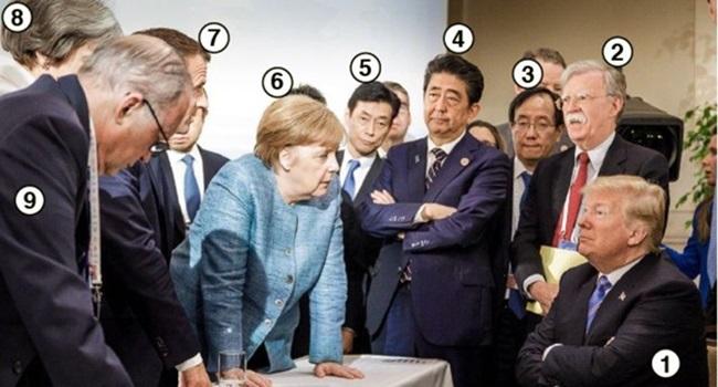 foto de Merkel encarando Trump que rodou o mundo e motivou série de memes