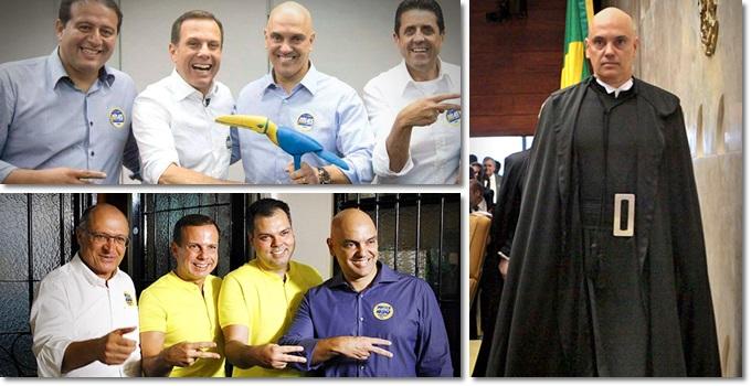 Antigos vínculos partidários são comuns entre magistrados brasileiros Alexandre de moraes