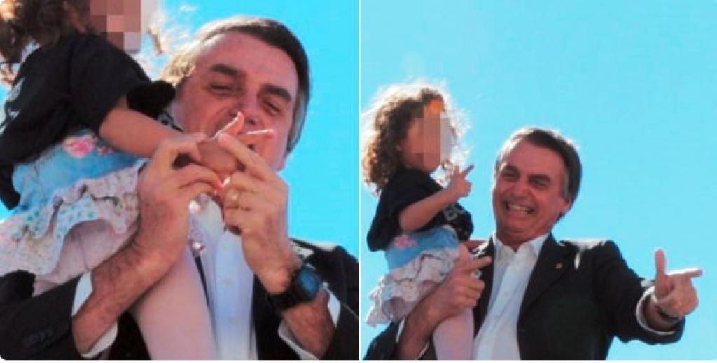 Bolsonaro menina arma na mão