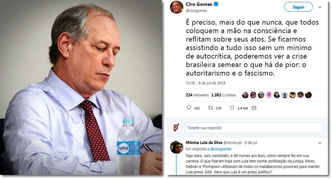 Ciro Gomes fica em cima do muro sobre embate jurídico envolvendo Lula Lava Jato