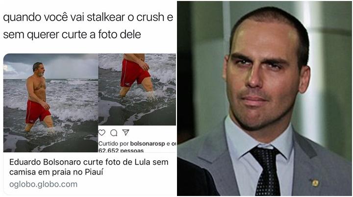 eduardo bolsonaro foto lula instagram