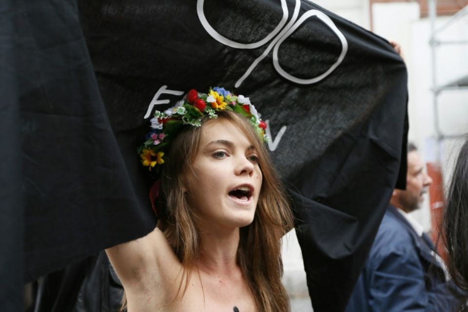 fundadora do Femen Oksana Chatchko