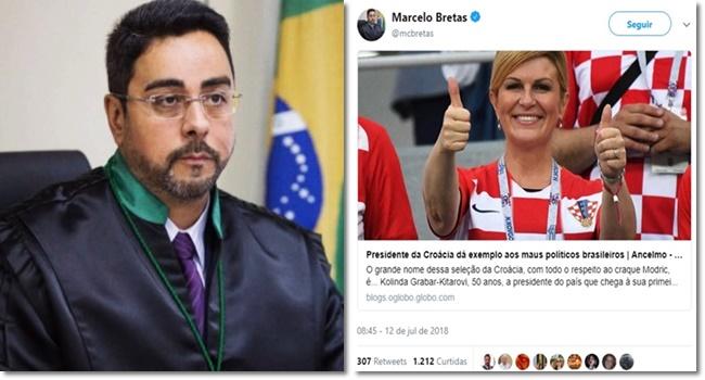 Juiz e jornalista festejam presidente que ostentou bandeira de regime genocida