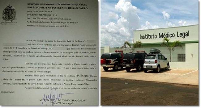 Legista denuncia PMs que matam e recolhem cadáver por conta própria polícia militar são paulo
