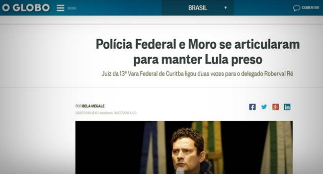 Manchete O Globo usada em representação contra Moro no CNJ