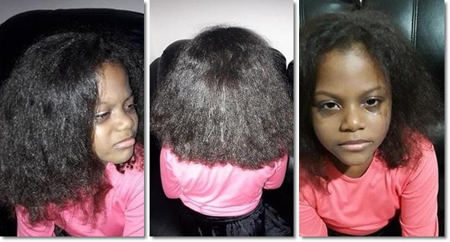 Bella Menina que teve cabelo alisado à força volta a ter cachos