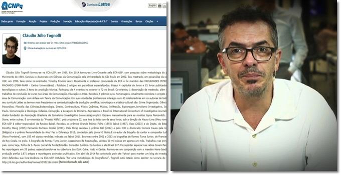 curiosos achados currículo Lattes de Claudio Tognolli