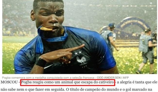 racismo comparar um jogador negro a um animal liberto pogbar frança