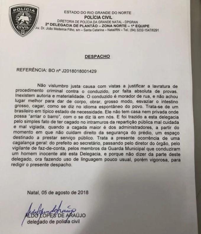 despacho delegado Aldo Lopes