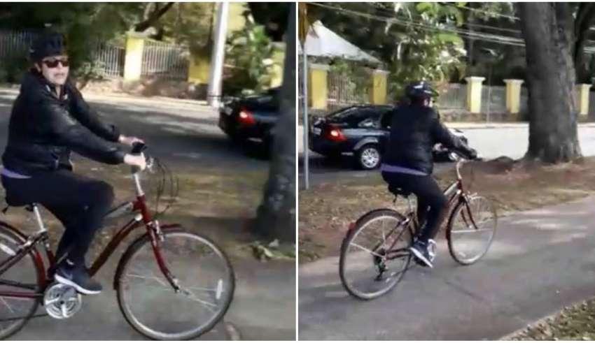 Dilma agredida passeio bicicleta