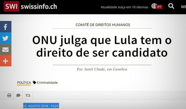 Estadão censura entrevista jurista da ONU sobre Lula