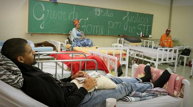 Grevistas de fome 20 dias camas hospitalares justiça stf