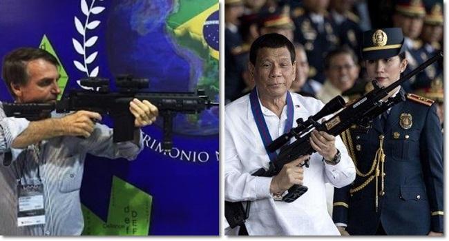 bolsonaro Rodrigo Duterte armas de fogo bala