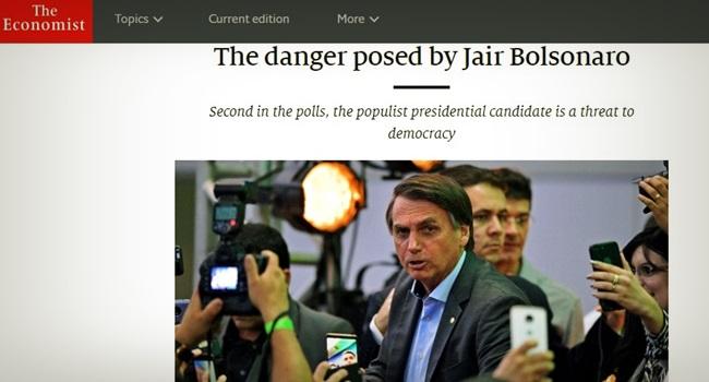 Jair Bolsonaro presidente desastroso the economist mídia