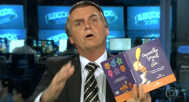 Livro Aparelho Sexual e Cia Bolsonaro mostrar no JN