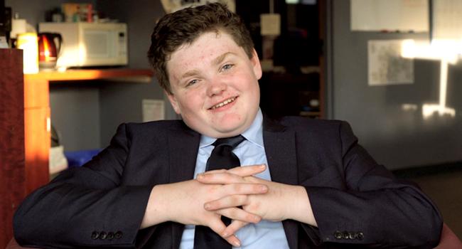 menino Ethan Sonneborn pré-candidato ao governo nos Estados Unidos
