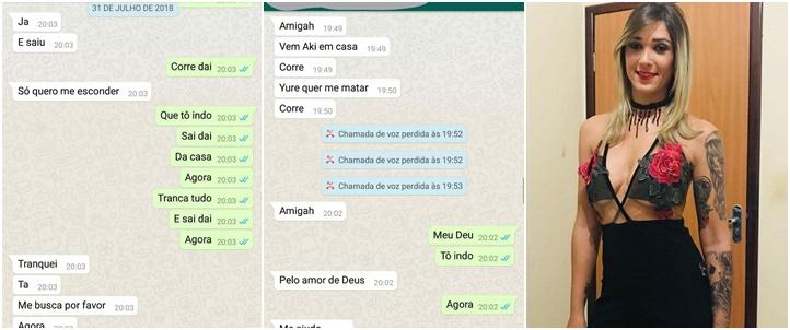 Patrícia Aline morta namorado WhatsApp