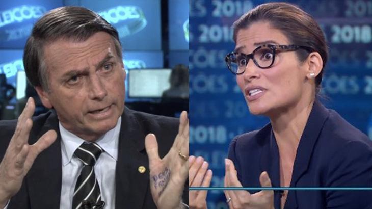 Jair Bolsonaro e Renata Vasconcellos