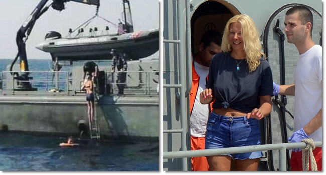Kay Longstaff Turista navio cruzeiro resgatada Mar Adriático