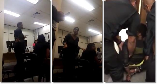 advogada negra algemada arrastada audiência rio de janeiro