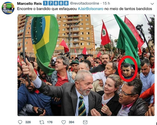 apoiadores de bolsonaro extremismo atentado pt ódio esquerda lula