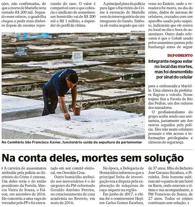 Assassinato Marielle Franco misterioso história Brasil polícia rio de janeiro