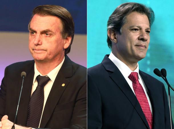 Bolsonaro Haddad pesquisa presidente