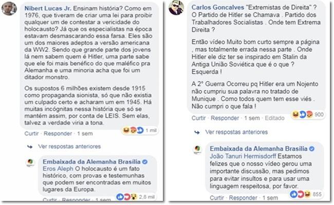 brasileiros aula nazismo alemães vergonha Hitler