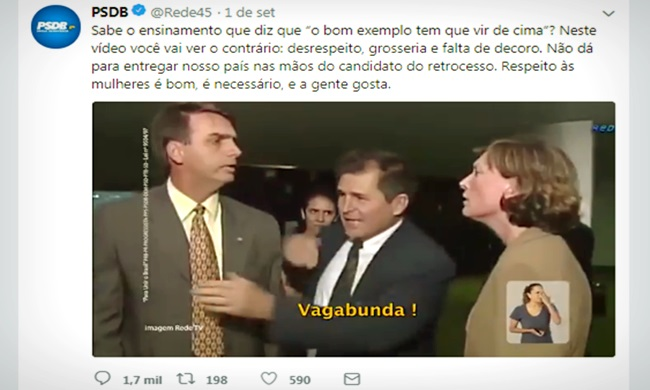 Alckmin vídeo Bolsonaro atacando mulheres