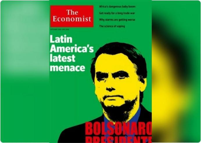 capa The Economist Bolsonaro