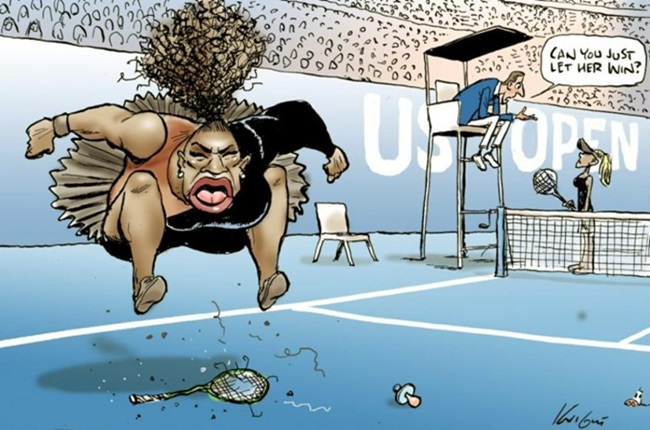 Cartunista racismo charge Serena Williams