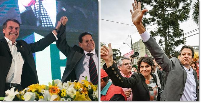 chances haddad manuela bolsonaro mourão eleições