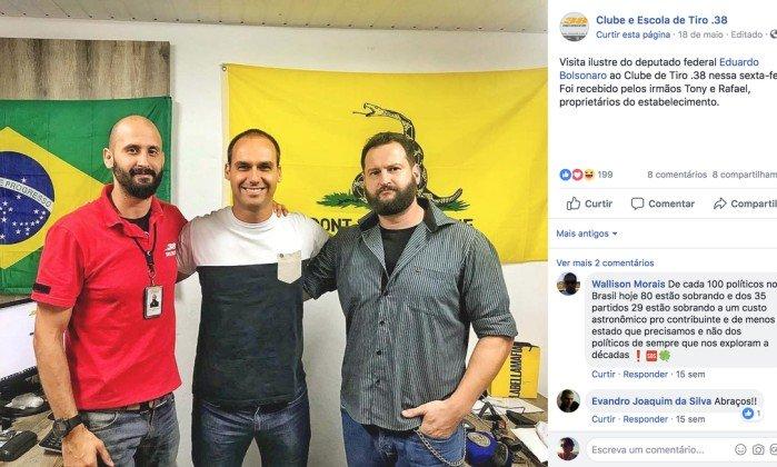 Eduardo Bolsonaro clube de tiro