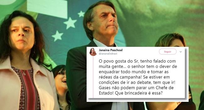 Conselho de Janaína Paschoal a Bolsonaro piada nas redes