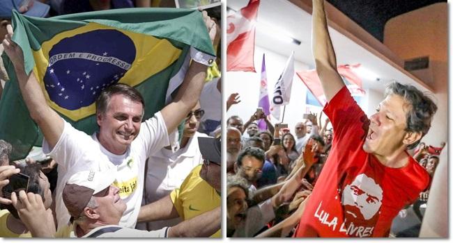 Eleitores Haddad e Bolsonaro fidelizados