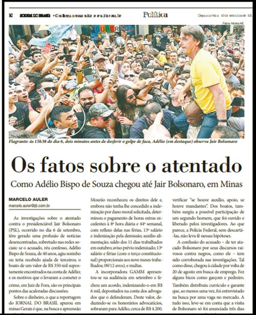 envolver pt atentado a bolsonaro eleições 2018