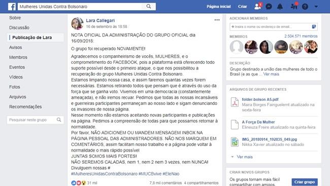 eduardo mourão vice falsas grupo de mulheres anti-Bolsonaro