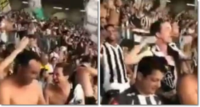 Grito homofóbico pró-Bolsonaro Atlético-MG torcida lgbt