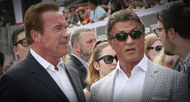 guerra suja Schwarzenegger Stallone cinema entretenimento