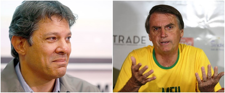 Haddad Bolsonaro Datafolha Pesquisa